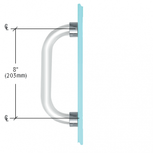 8 inch Single-Sided Acrylic Smooth Pull Handles