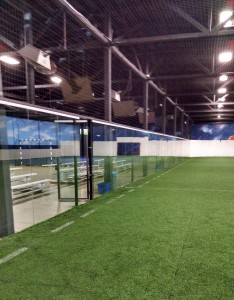 "1/2"" Glass soccer field, Inside View"